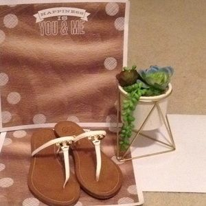 Tory Burch T logo Thong Sandals